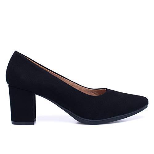 Urban S - Zapato de tacón Medio Negro
