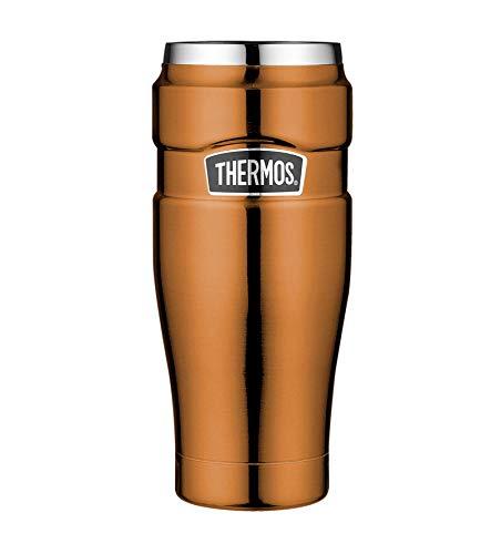 Thermische Läuft Top (Thermos 4002.215.047 Coffee-to-Go Thermobecher Stainless King, Edelstahl Copper, 0,47 l, 7 Stunden heiß, 18 Stunden kalt, BPA-Free)
