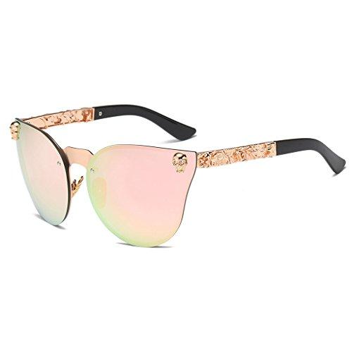 SLYlive Metall Rahmen Sonnenbrille, Vintage Shades Gothic Designer UV400Schutz Eyewear Sun Brillen...