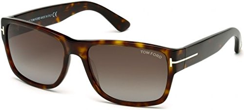 0620e16ff3d Lunettes de soleil Tom Ford FT0445 C58 52B (dark havana   gradient smoke)