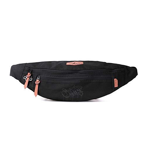 Bb Fashion Outdoor-Sportarten Multifunktions-Taschen Trend männlichen Brustbeutel Korean Casual Messenger Bag wasserdicht Mini (Color : Black, Size : 42 * 17cm)
