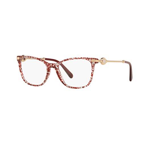 Bulgari Damen Brillengestell Rot rot 54 cm