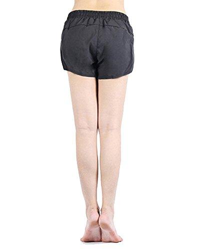 Femmes Sports Court Pantalons Workout Gym Leggings Pantalons Gris