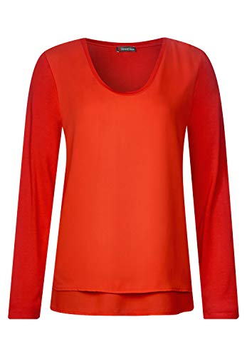 Street One Damen Langarmshirt 313096, hot orange, 38