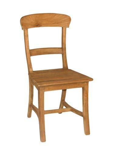 casamia Esszimmer Stühle Set Tanja 6 Stück mit Holzsitzfläche Teakholz gebürstet unbehandelt Kissen ohne Sitzkissen