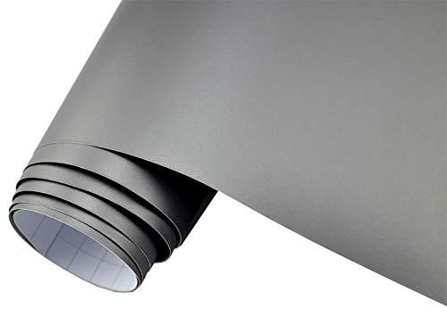 4€/m² Auto Folie matt - silber/grau metallic matt 300 x 150 cm blasenfrei Car Wrapping Klebefolie Dekor Folie
