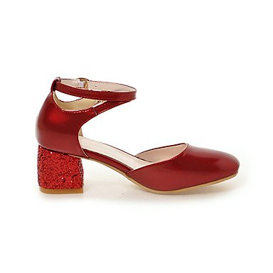 LvYuan Da donna-Sandali-Ufficio e lavoro Formale Casual-Comoda-Quadrato-Finta pelle-Nero Rosa Rosso Beige Black