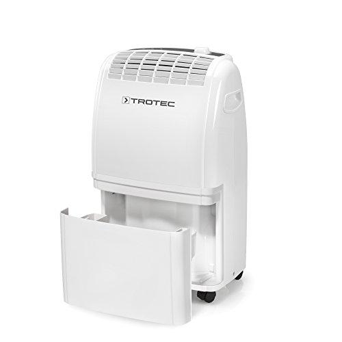 TROTEC Deshumidificador eléctrico TTK 75 E / 20L / Desagüe 3L / Portátil / Para Habitaciones de hasta 45m² / 110m³ / Filtro de Aire / Extra Silencioso / 320 W / Auto-Apagado / Higrostato Automático