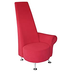Febland Small Red Potenza Chair with Left Arm, Fabric, 70x65x130 cm