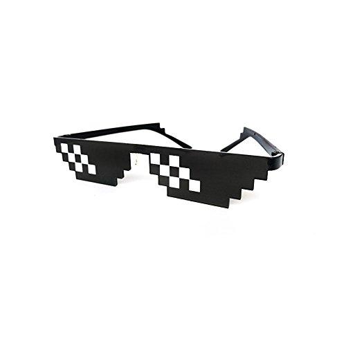 HAPPYX Thug Life Sunglasses, Sonnenbrille Sie sich mit 8 Bit Pixel, Mosaik, Unisex Sonnenbrille Spielzeug, Stil mlg Schattierungen (Style B)