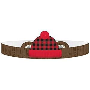 Amscan International 252150 Accesorios para disfraz, Coronas Ppr Ltl Lumberjack Cumpleaños