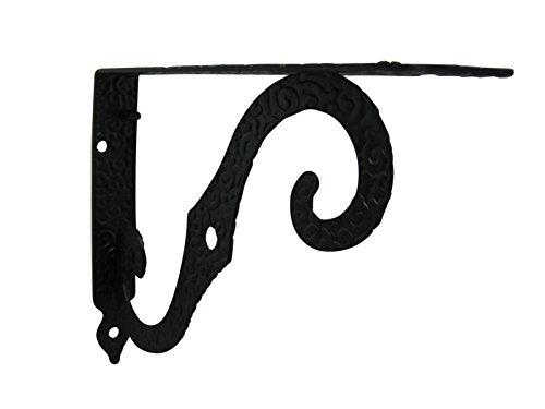 Winkel Regal Regalwinkel Regalträger Konsole 200x150mm Schmiedeeisen schwarz (Schmiedeeisen-konsole)