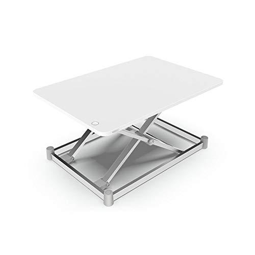Intelligente Büromöbel (ZZWBOX X-Typ Intelligente elektrische Aufstehhubtisch Stehbarer alternativer einfacher Büro-Computertisch Folding Erhöhen und steigen Computer-Anzeigen-Tisch,White)