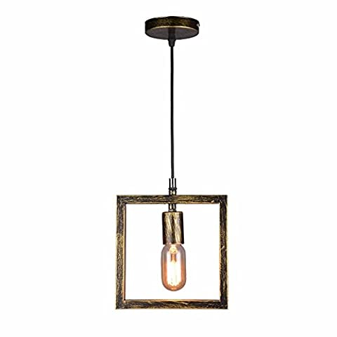 XHOPOS HOME Fer à Repasser moderne Lumières suspendues Loft Bar restaurant Couloir rétro Photo Frame Plafonniers lamp 20x20cm