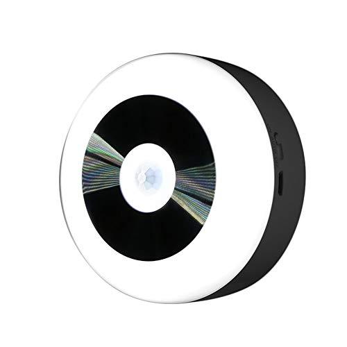 Homeofying LED-Infrarot-Körper mit Bewegungssensor, Nachtlicht für den Innen- und Außenbereich, batteriebetriebenes Licht, Weißes Licht, Charge -