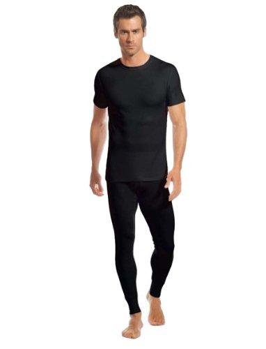 Jockey moderno termiche caldo sci Athletic Maglietta Gilet Underwear Baselayer Black
