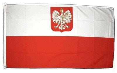 Flagge Polen mit Adler - 60 x 90 cm (Polnische Flagge)
