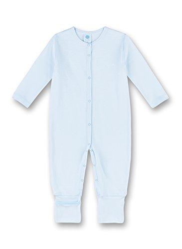 Sanetta Overall Pyjama, Bleu (Soft Blue 50266.0), 1 Mois Bébé garçon