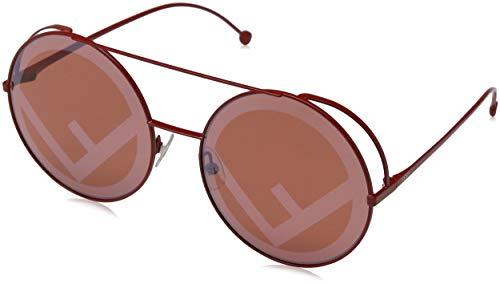 Fendi Damen FF 0285/S 0L C9A 63 Sonnenbrille, Rot Rd Red