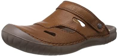 Clarks Men's Wirrel Beat Tan Leather Sandals and Floaters - 6.5 UK