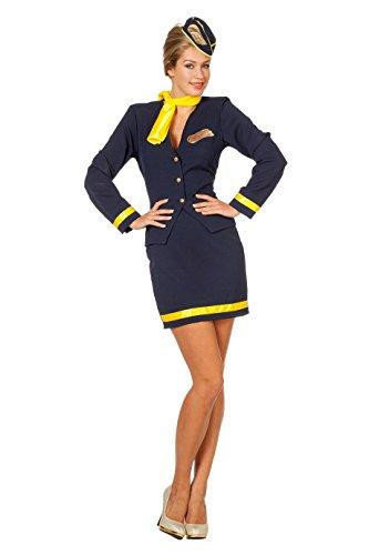 (Wilbers 4092 Deluxe Kostüm Stewardesse Damen)