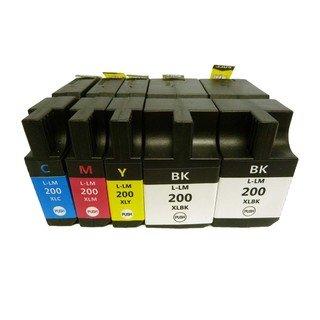 Prestige Cartridge Lexmark 200XL/210XL 5-er Pack Druckerpatronen für Lexmark OfficeEdge Pro 4000, Pro 4000c, Pro 5500, Pro 5500t, schwarz / cyan / magenta / gelb - 5500 Tinte Schwarz