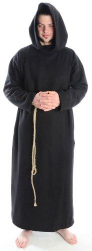 Schafwollkutte Schafwollfilz Mönchskutte Mittelalterliche Kutte S, (Kostüme Assassinen Mittelalterliche)