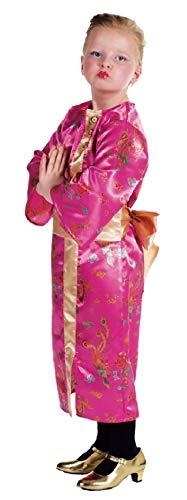 Kleid Chinesen Kostüm - narrenkiste M211016-128-A pink Kinder Mädchen Chinesin Chinesen Kostüm Kleid Gr.128