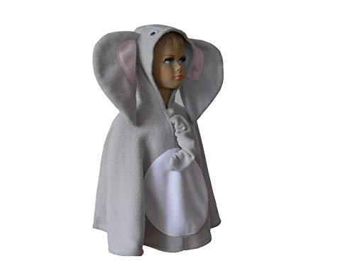 fasching karneval halloween kostüm cape für kleinkinder elefant (Halloween Elefant Kostüm Kleinkind)