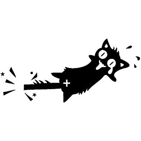 Winhappyhome Tail Clamp Cat Funny Car Sticker Removable Decor Art Decal - Funny Car Decal Sticker