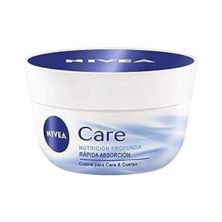 NIVEA Care Crema hidratante para cuerpo, cara y manos, crema nutritiva de rápida absorción para una hidratación profunda 24 horas – 1 x 400 ml