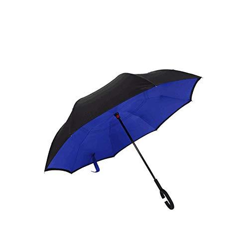 Paraguas Recto Prueba Agua Doble Capa invertido/invertido