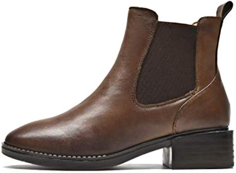 ZPEDY Chaussures pour Femmes Faites à La pour Main, Chaussures pour La Femmes Chaudes pour L'automne Et l'hiver, Bottines... c6f777