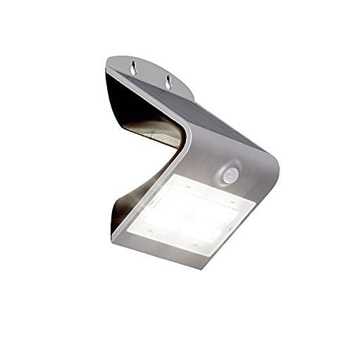 LED Solar Außenwandleuchte mit Bewegungsmelder, 1x 3.2W LED integriert, 1x 400 Lumen, 4000K,