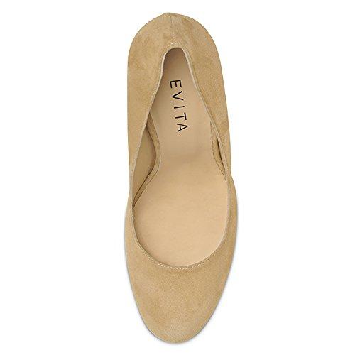 Evita Femme Daim Escarpins Beige Shoes Cristina 4r4PO  chaussures ... 8ac7f40712f9
