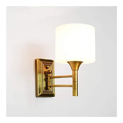 XXY.XXY Wandleuchte Innen Modern Wohnzimmer Schlafzimmer flammige Vintage Wandlampe Imitation Kupfer dekorative Lichter geeignet für Bett -