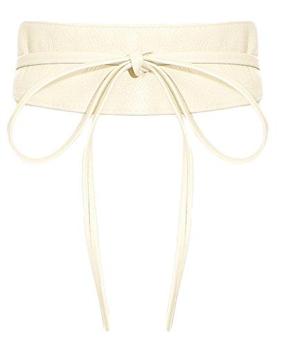 malito Damen Taillengürtel | Echtleder Bindegürtel | breiter Wickelgürtel - Ledergürtel - Hüftgürtel G100 (beige)