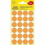 10 x Avery Zweckform Markierungspunkte 18mm VE=96 Stück orange