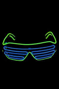 UV Floor 3700817021294 - Gafas luminosas, color azul y verde