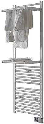 DELTACALOR - Toallero eléctrico de baño, Calientatoallas Radiador Papillon 2, 750 W, (165 x 50), Baldas abatibles, Tendedero electrico, Termostato Digital programable, 9 m², Blanco