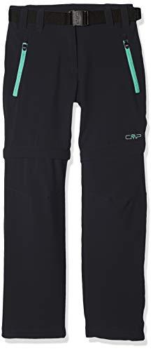CMP Mädchen Zip Off Hose, Antracite-Aquamint, 140