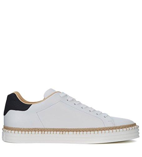 Hogan Sneaker R260 in Pelle Bianca e Nera Bianco