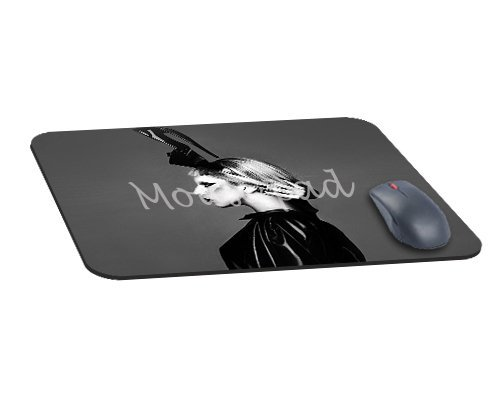 Preisvergleich Produktbild Büro Rechteck Maus Pad mit Lady Gaga Dark Mariano VIVANCO Foto Musik Image Reinigungstuch Cover rutschfest Gummi backing-gaming Mousepad (22,1 x 18 x 0,3 cm)