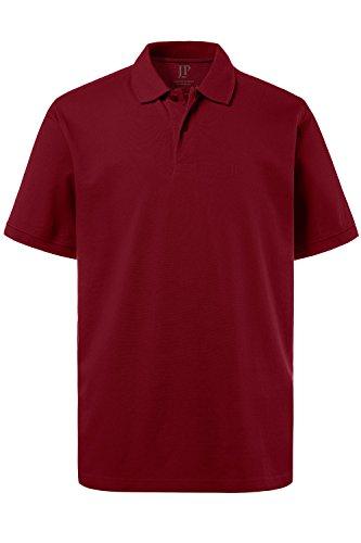 JP 1880 Herren, Poloshirt , Halbarm, Unifarben, Farbe: Weinrot, Gr. 8XL
