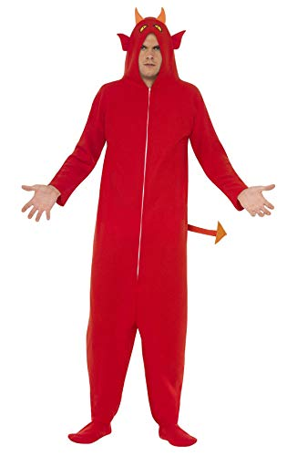 Smiffys, Herren Teufel Kostüm, All-in-One mit Kapuze, Größe: M, 25320