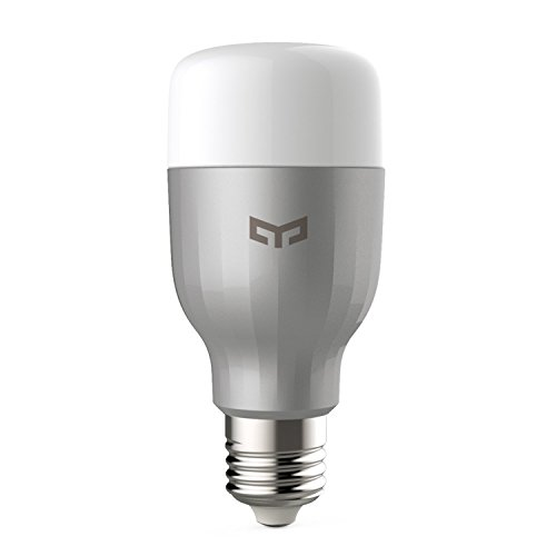 Yeelight A60 9W Smart LED Lumière 600lm rgbw wifi lampe e27 220V, dimmerbar via Yeelight App ou Xiaomi APP, compatible avec Amazon Alexa et Google Assitant