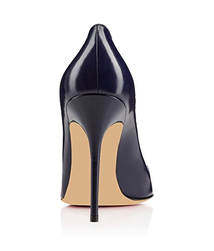 EDEFS Damenschuhe Faschion Forneille 100MM High Heel Pointed Toe Pumps Schuhe Blau