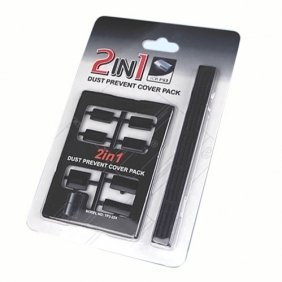 CABLESETC 2 in 1 Dust Prevent Cover Pack for SONY PS3 PlayStation 3 - Protect unused ports