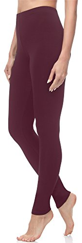 Merry Style Damen Lange Leggings MS10-143 (Weinrot, XL (Herstellergröße: 42)) (Legging Warme)