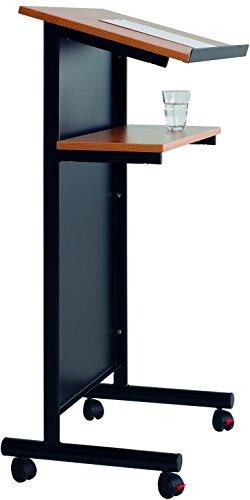 Smit Visual Supplies BV Rednerpult mit Geschlossener Front (schwarz/Buche)